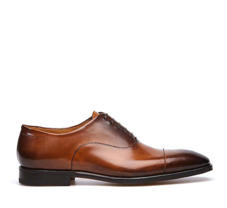 Туфли-оксфорды из телячьей кожи, полированной вручную
