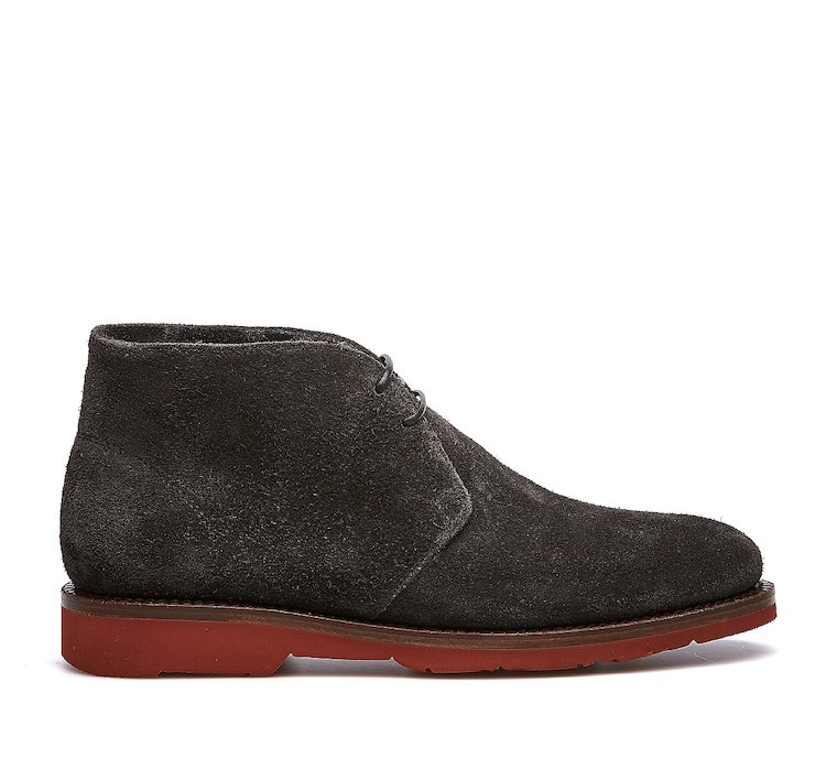 Fabi suede ankle boots with warm sheepskin lining