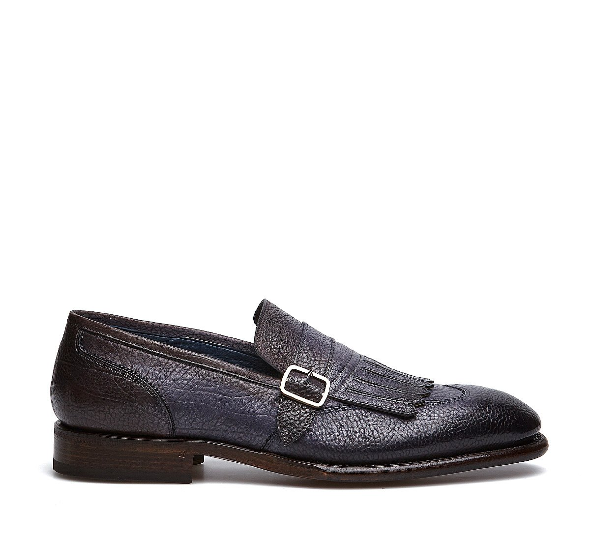 Fabi Flex Goodyear monk-strap shoes in exquisite hand-aged calfskin