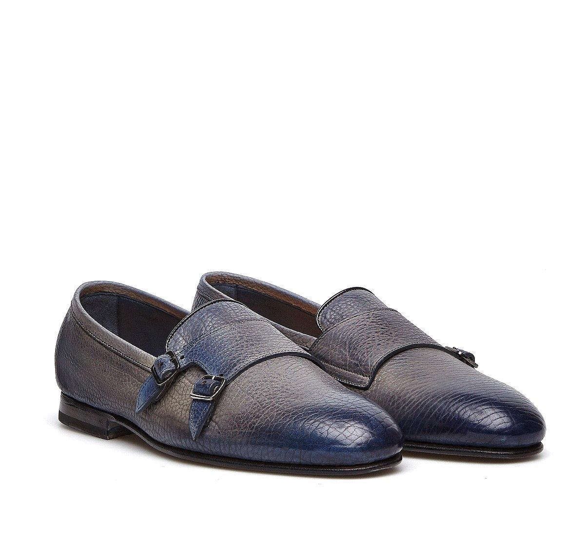 Fabi Flex Goodyear double monk-strap shoes in exquisite hand-buffed calfskin