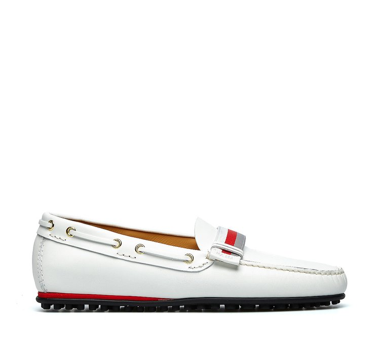 Nappa leather moccasins