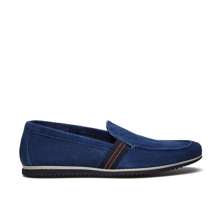 Sporty moccasins in soft calfskin
