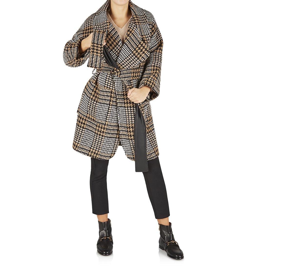 Cappotto in lana e tessuto