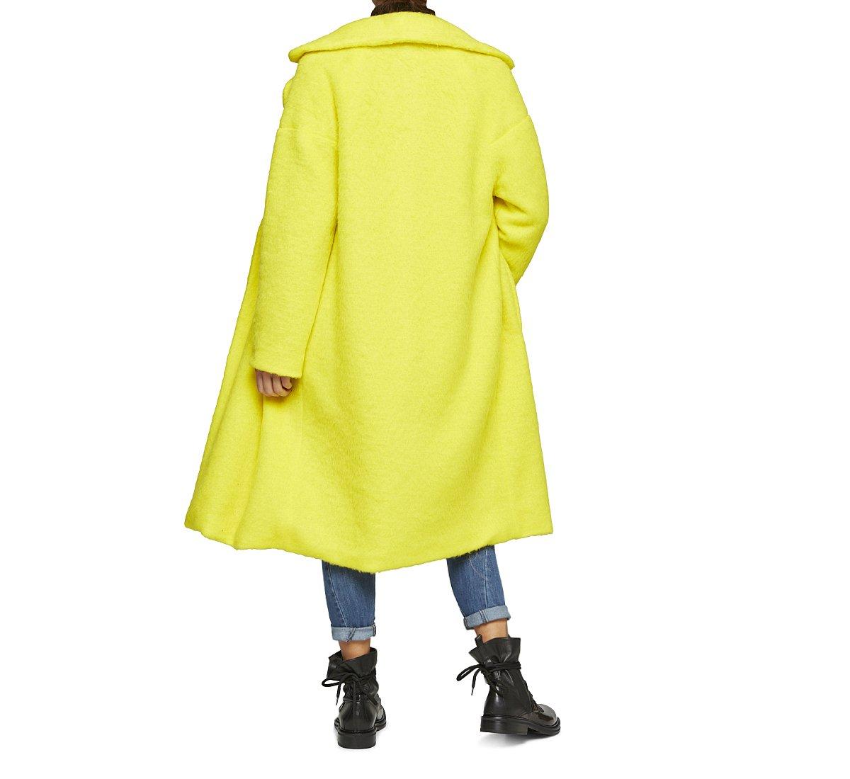Пальто свободного кроя из шерсти и ткани