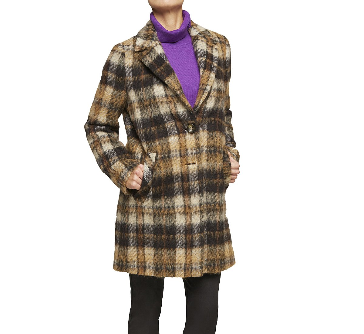 Pattern fabric coat