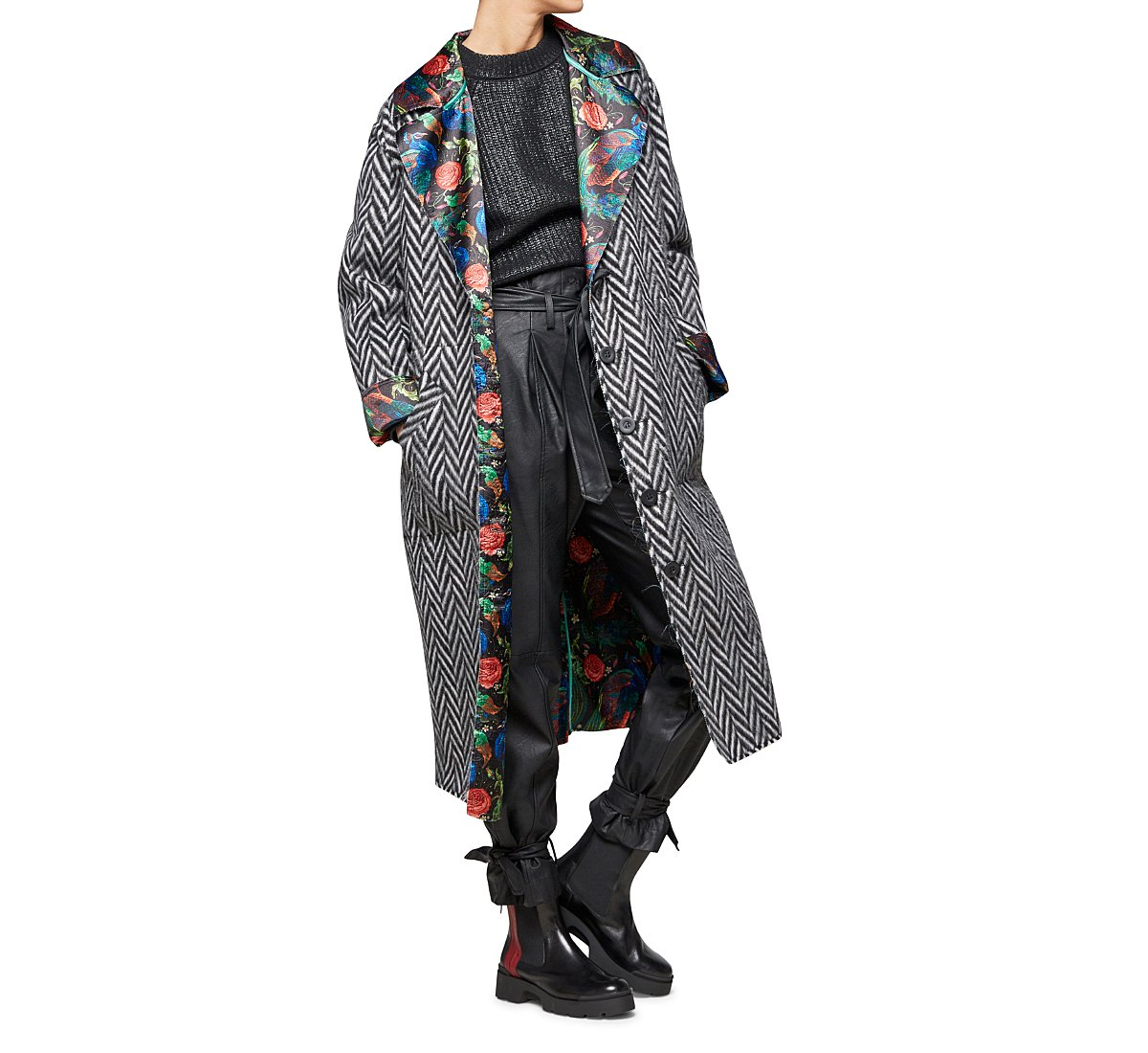 Long double-faced coat