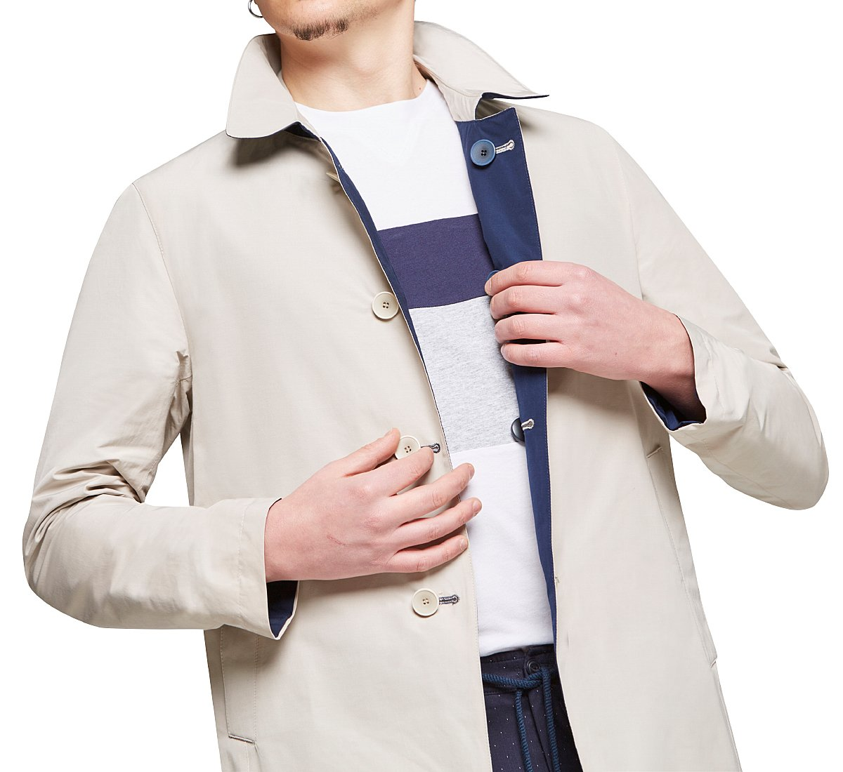 Straight-cut raincoat