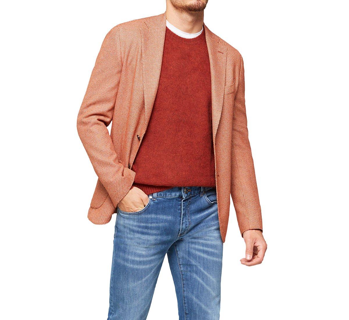 Blazer with lapel collar