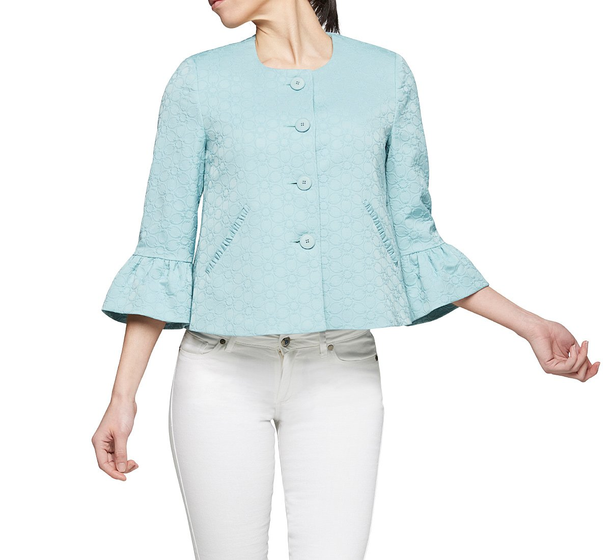 Short jacket in plain colour