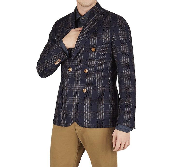 Elegante giacca doppiopetto in lana