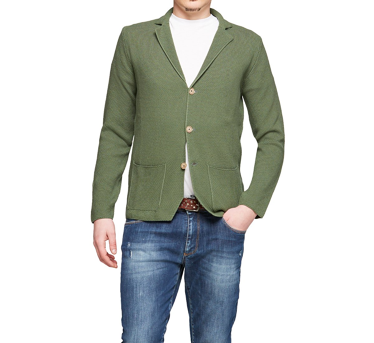 Blazer colletto revers in cotone