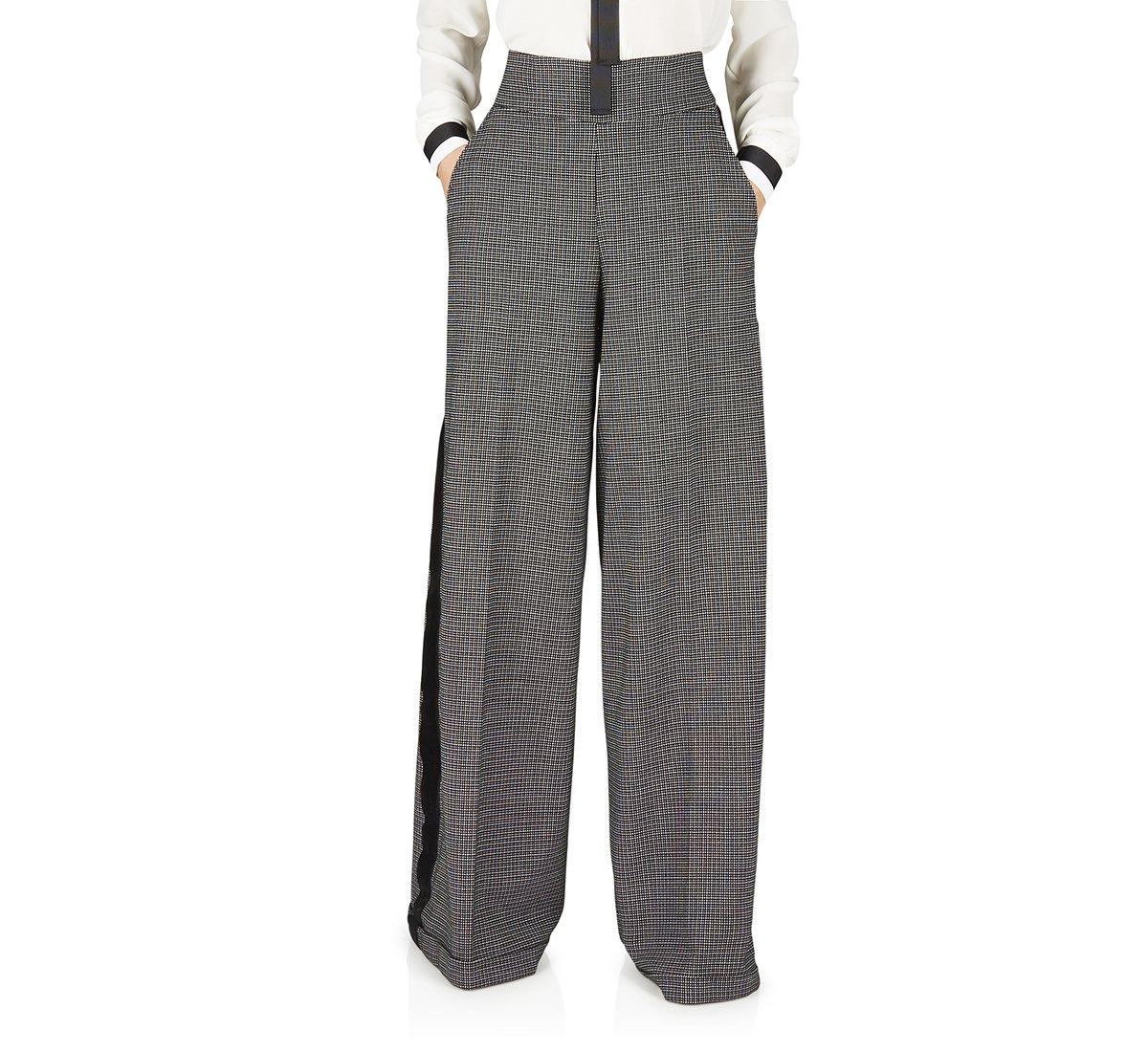 Pantalone pied de poul in tessuto