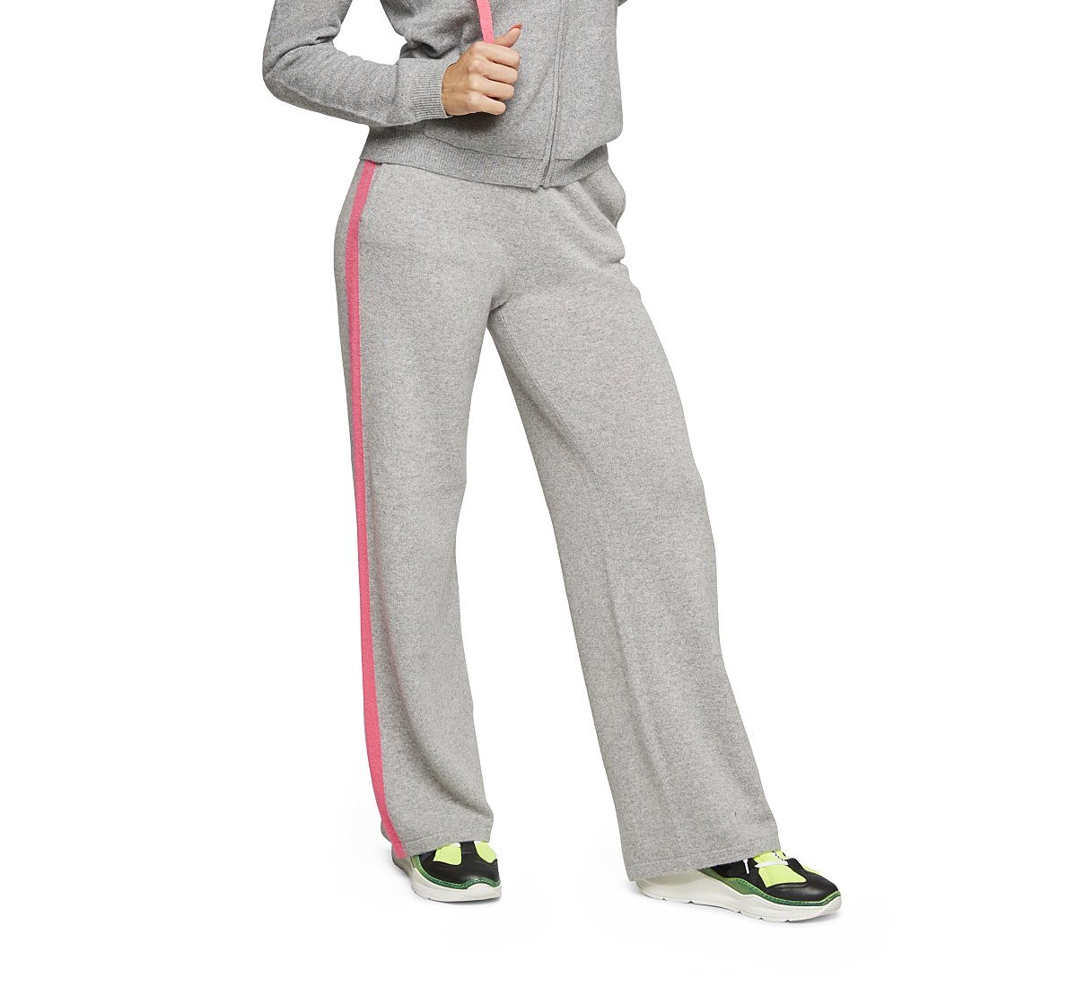 Pantaloni in pregiato cashmere