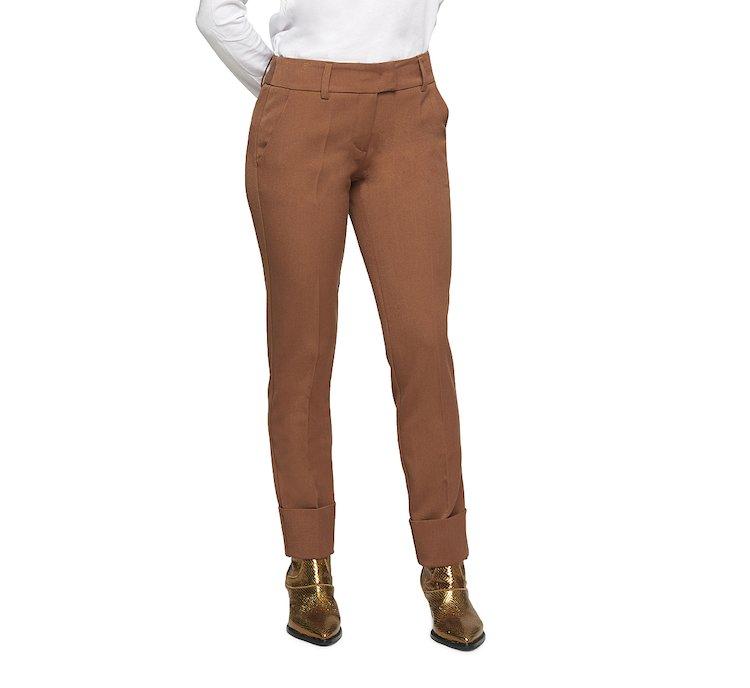 Medium waist classic trousers