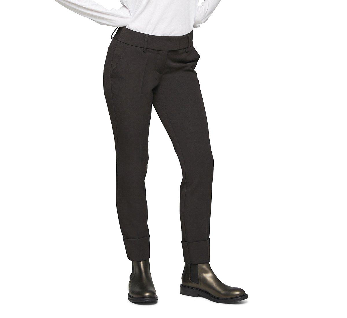 Классические брюки из шерсти со средней посадкой