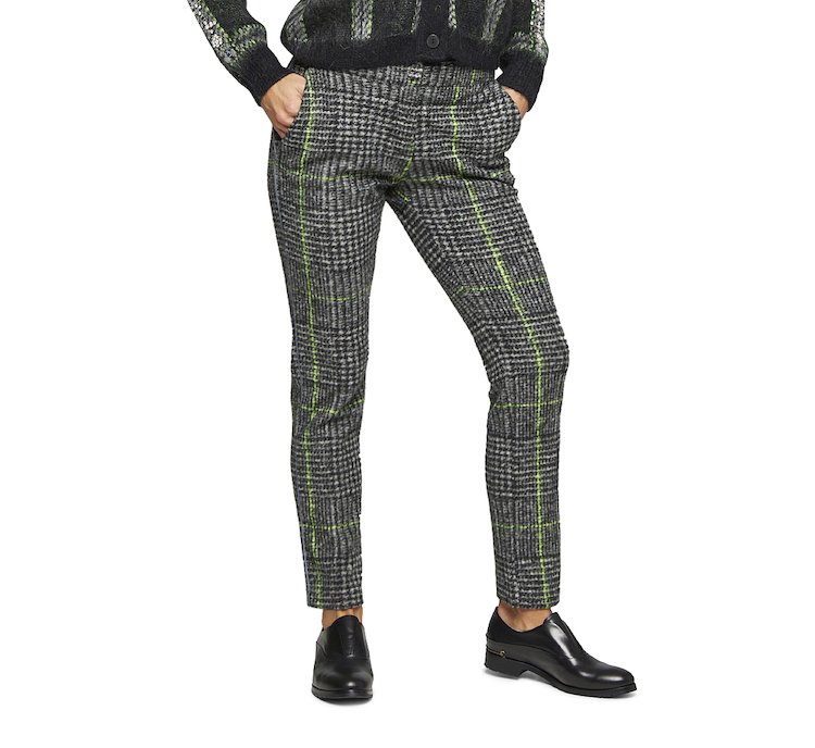 Patterned cigarette pants