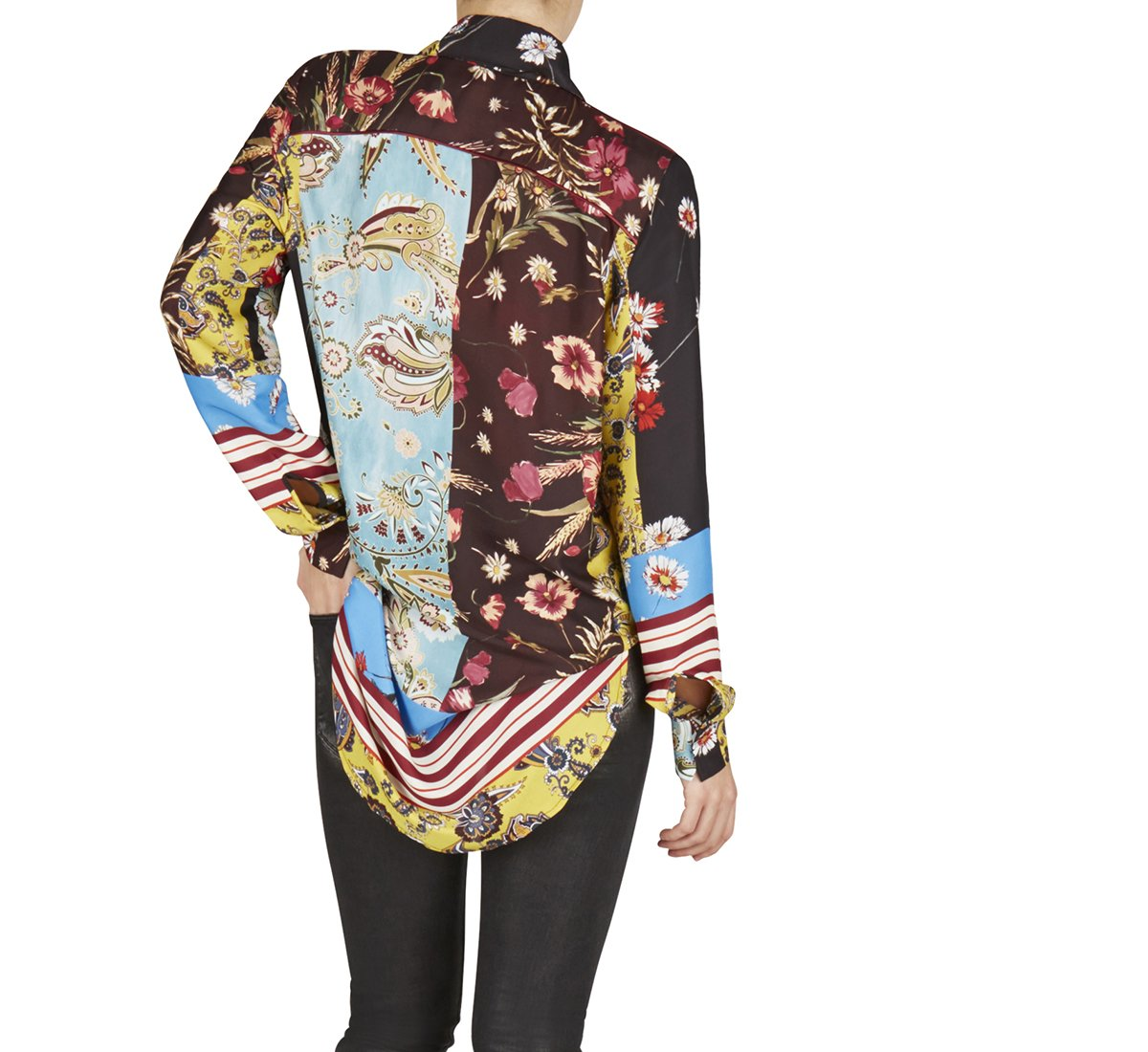 Camicia in tessuto fantasia floreale