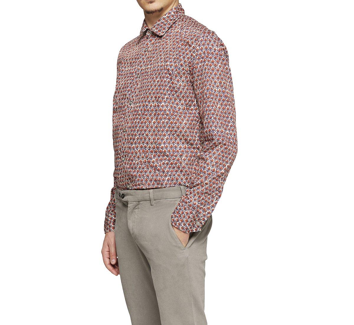 Рубашка regular fit из хлопка
