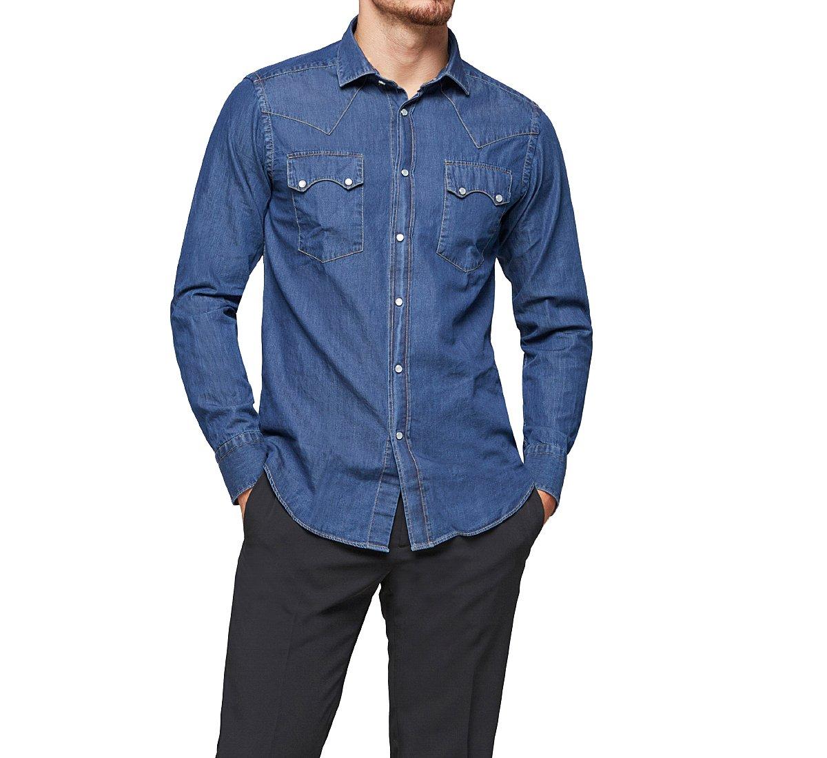 Camicia di jeans in stile western