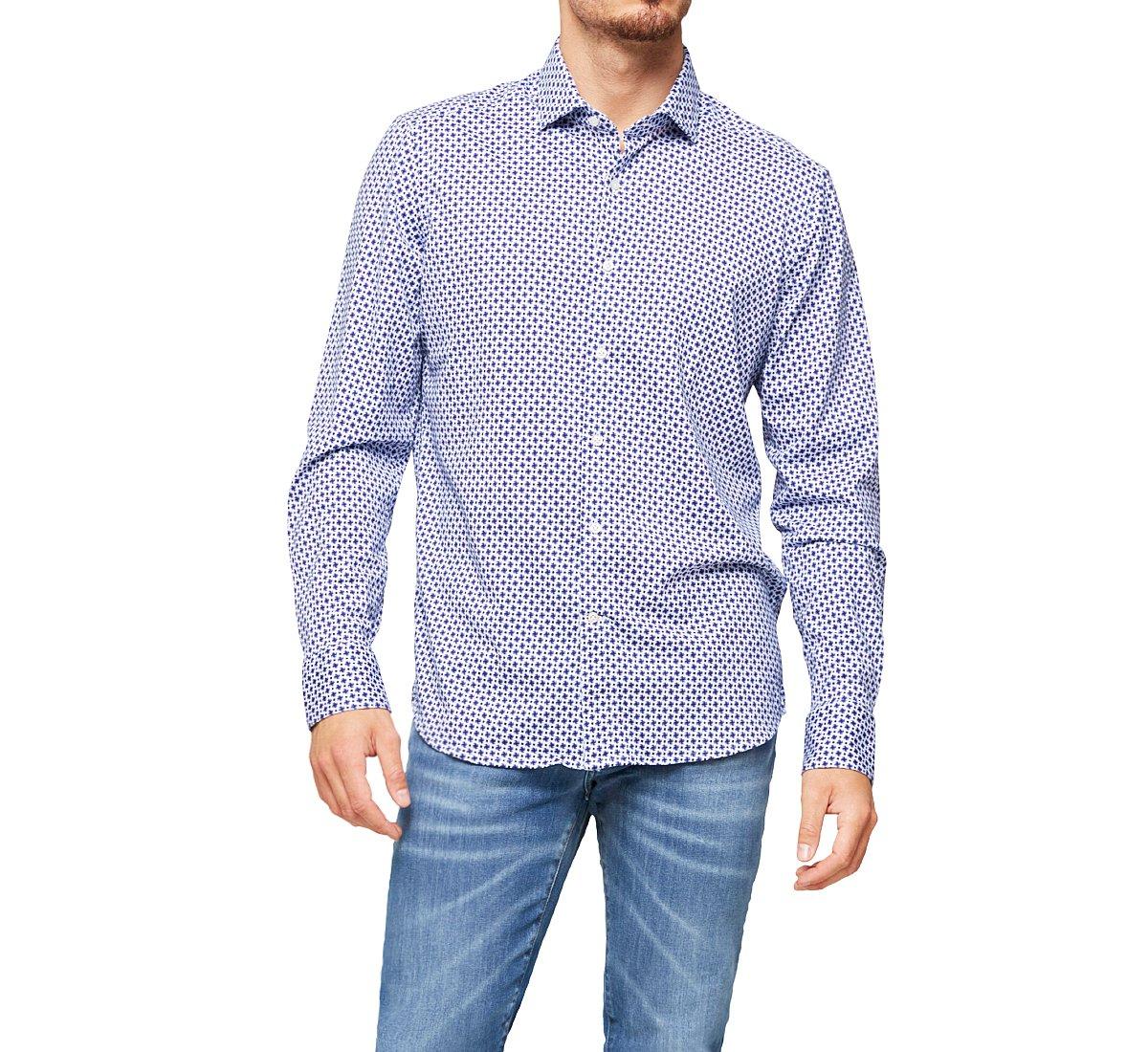 Рубашка узкого кроя