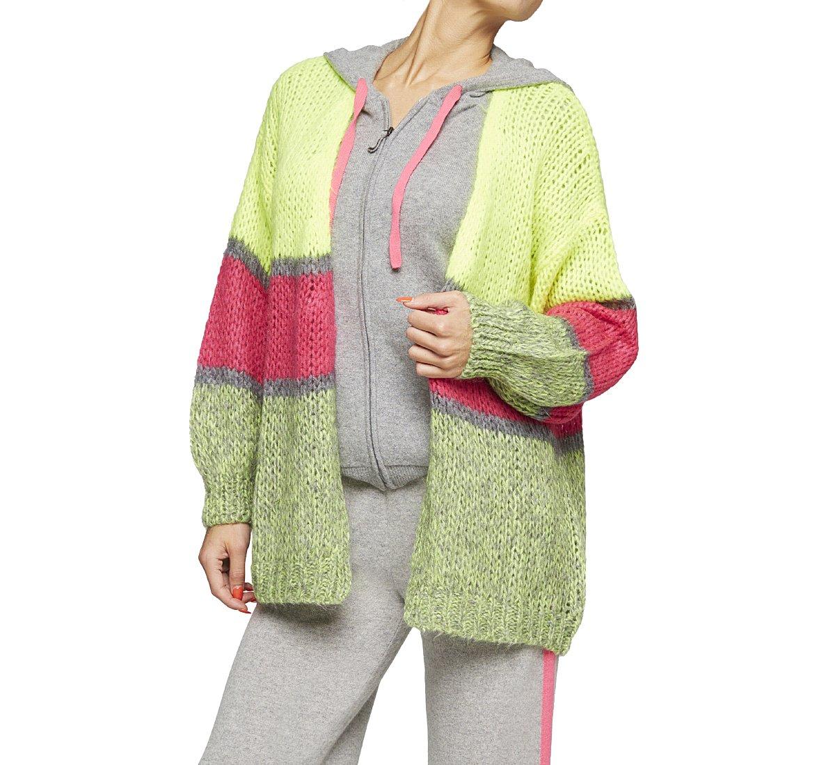 Maglione multicolor in calda lana