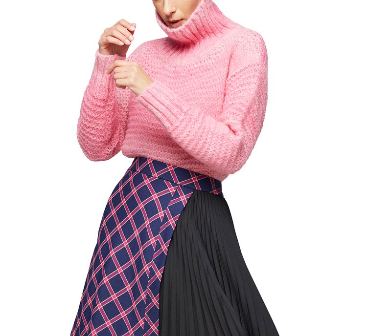 Turtleneck sweater with ribbing