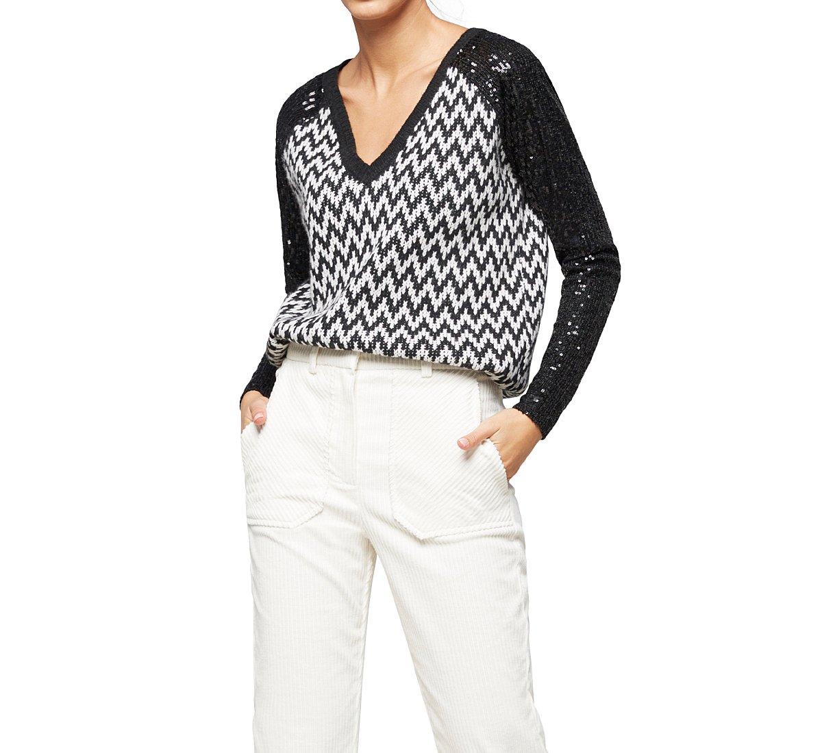 Light V-neck sweater