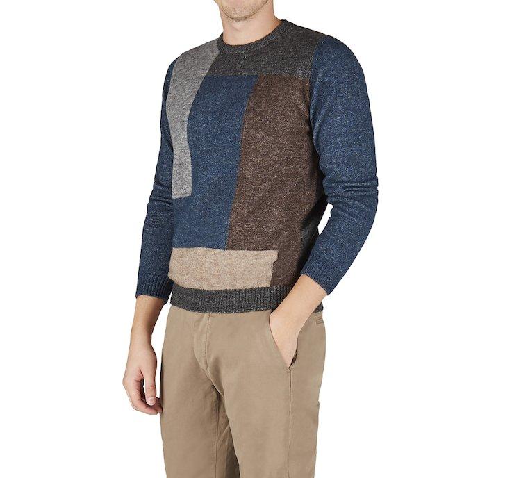Maglione girocollo in calda lana