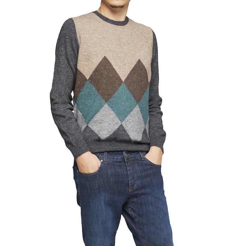 Pullover a fantasia in calda lana