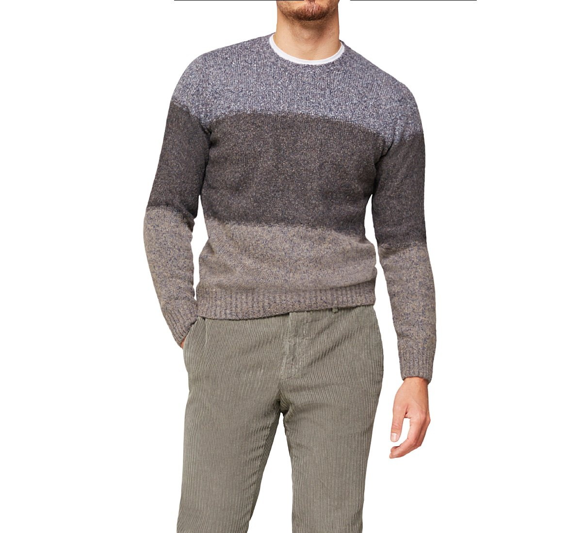 Sweater with horizontal stripes