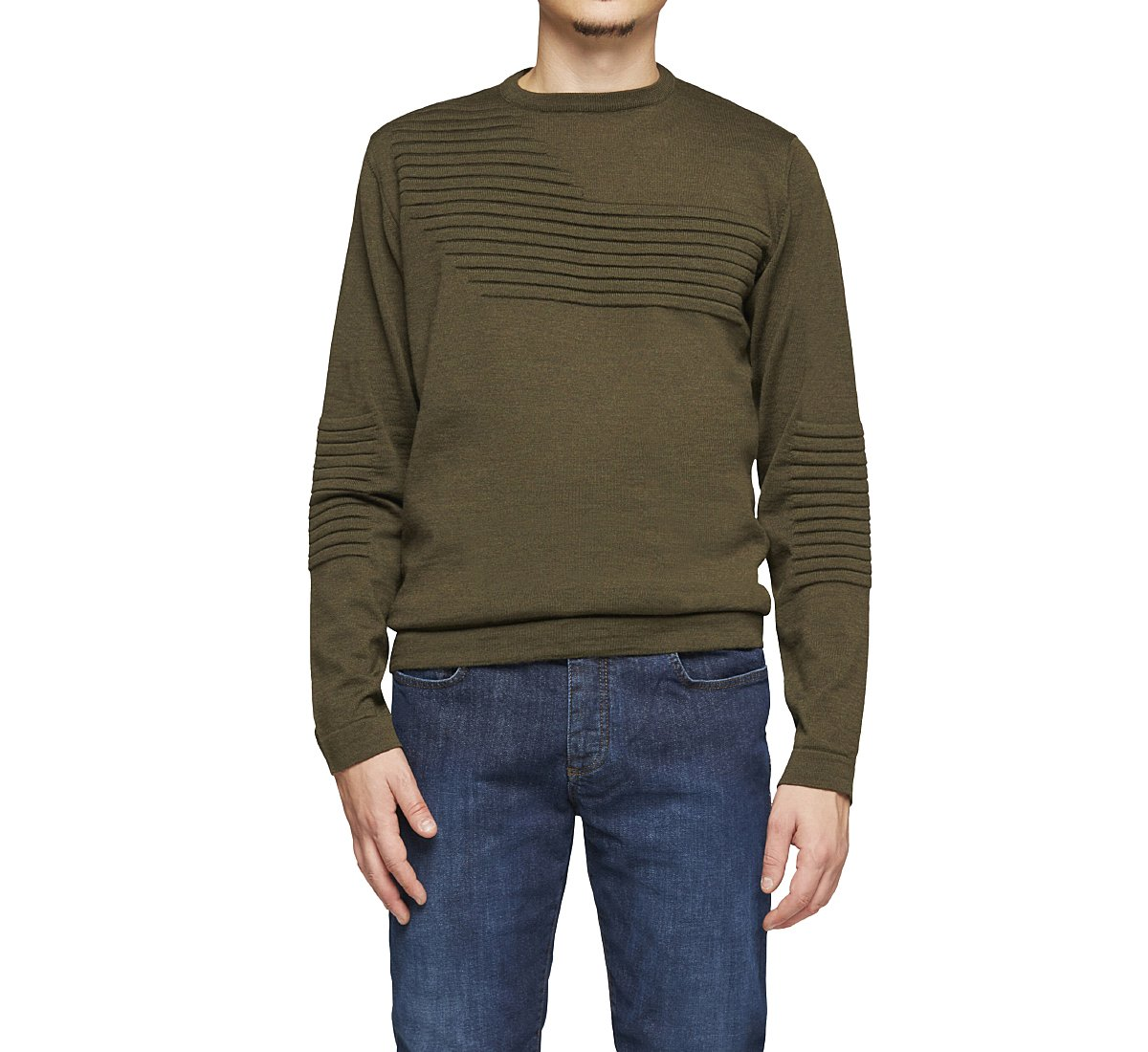 Однотонный шерстяной свитер