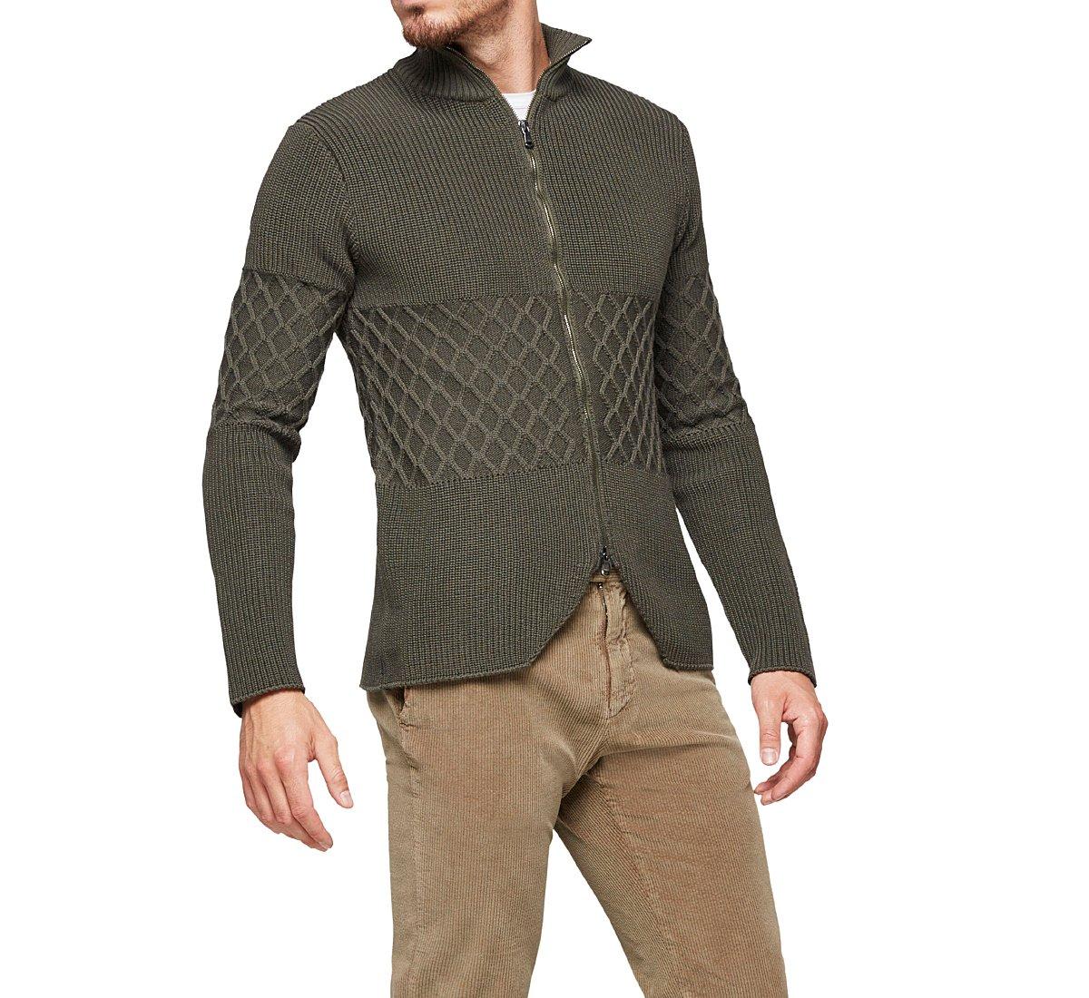 Cotton yarn cardigan