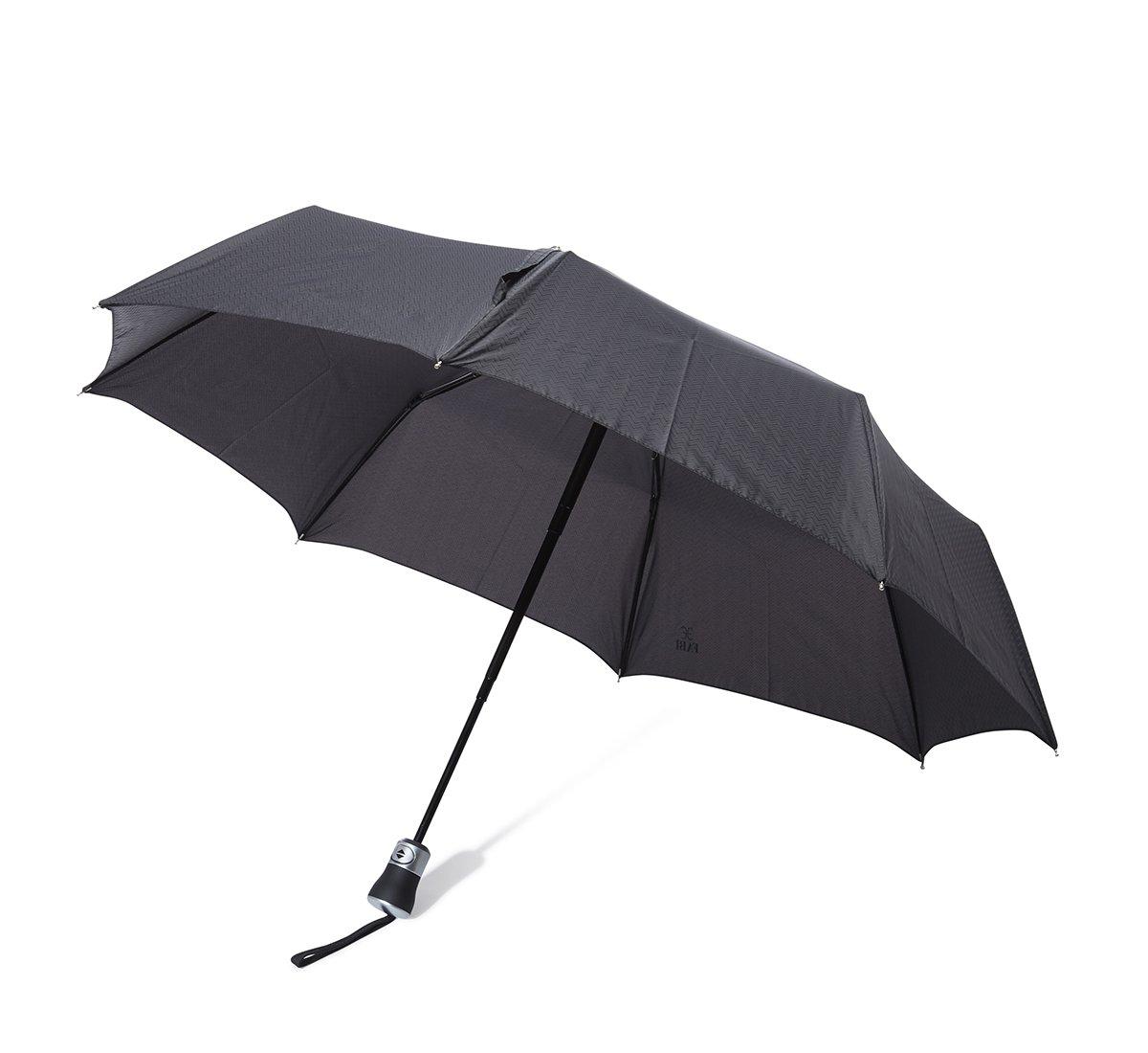 Ombrello zig zag nero