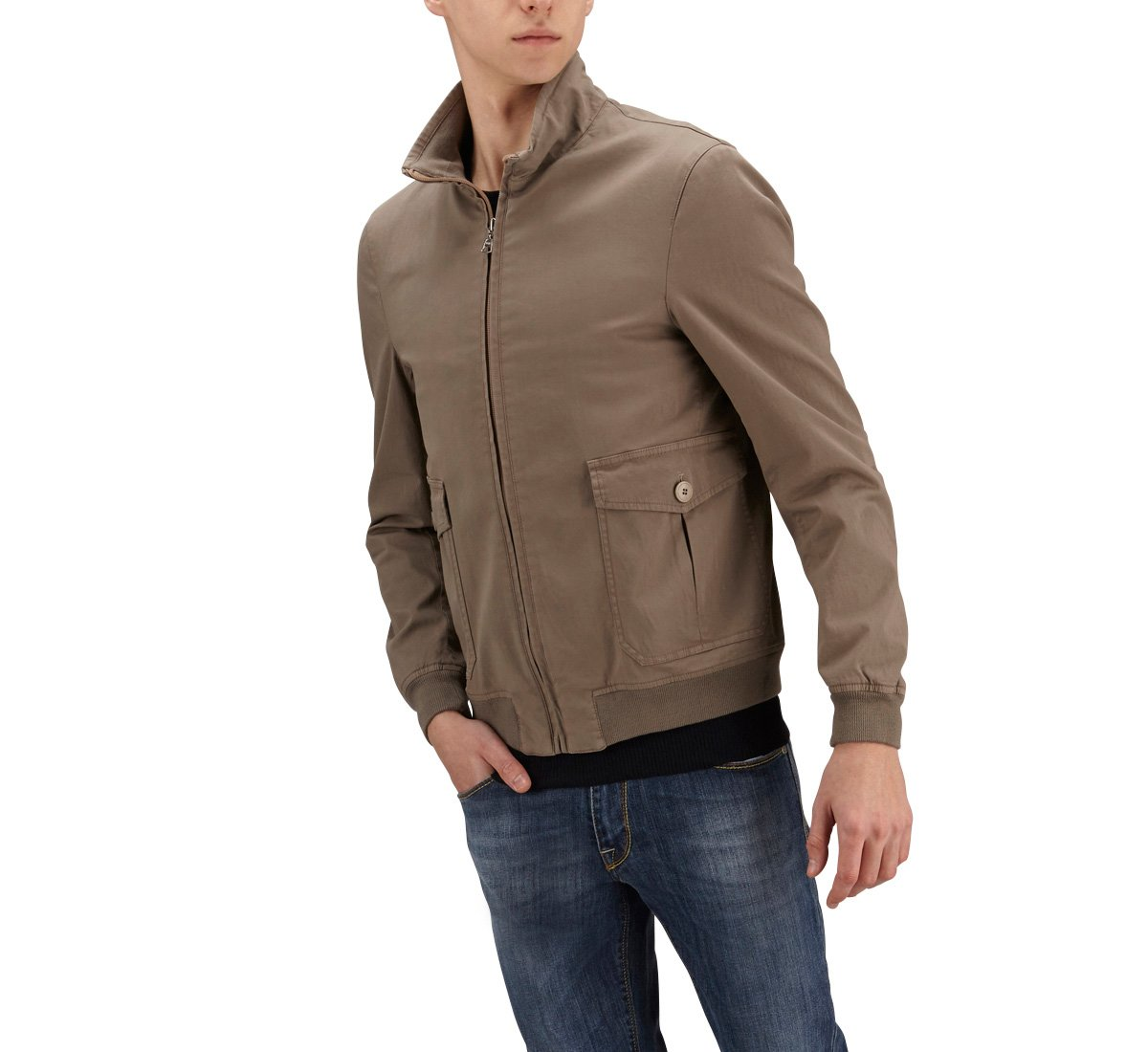 Bomber in cotone stretch