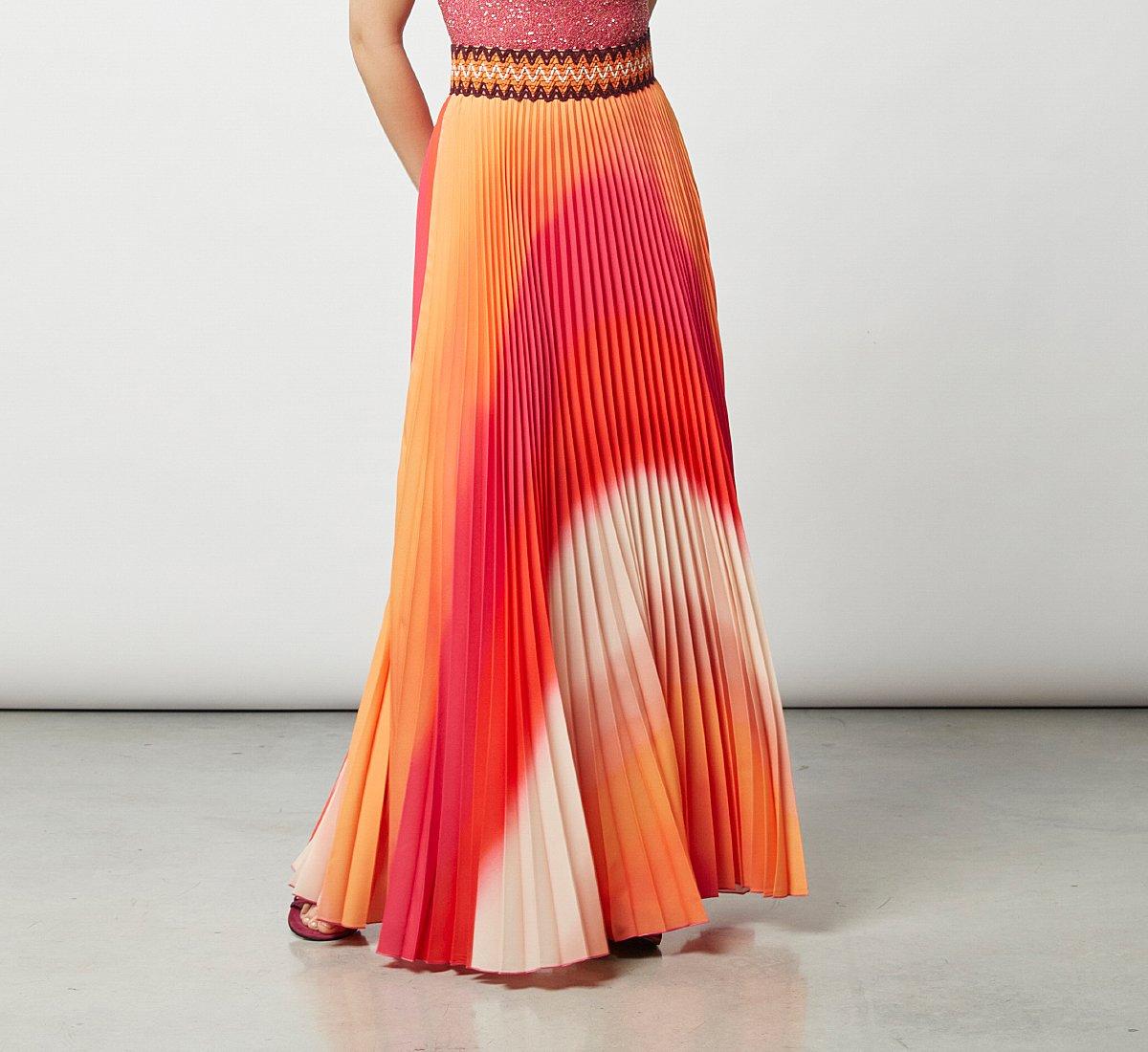 Long, light fabric dress
