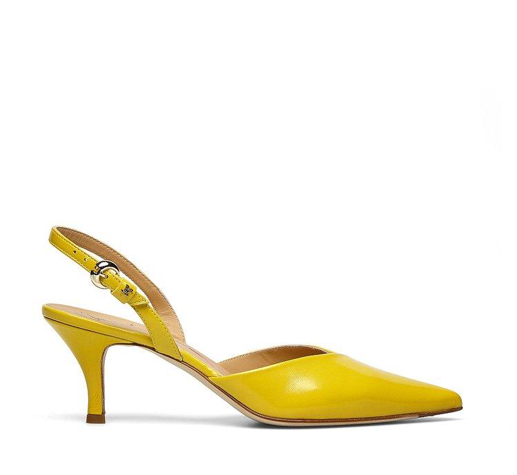 Туфли-слингбэки из наппы