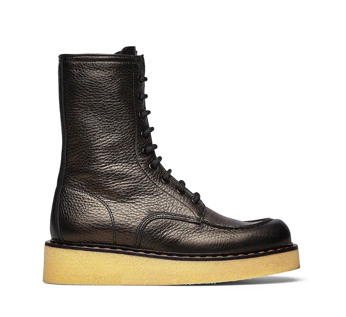 Barracuda calfskin ankle boots