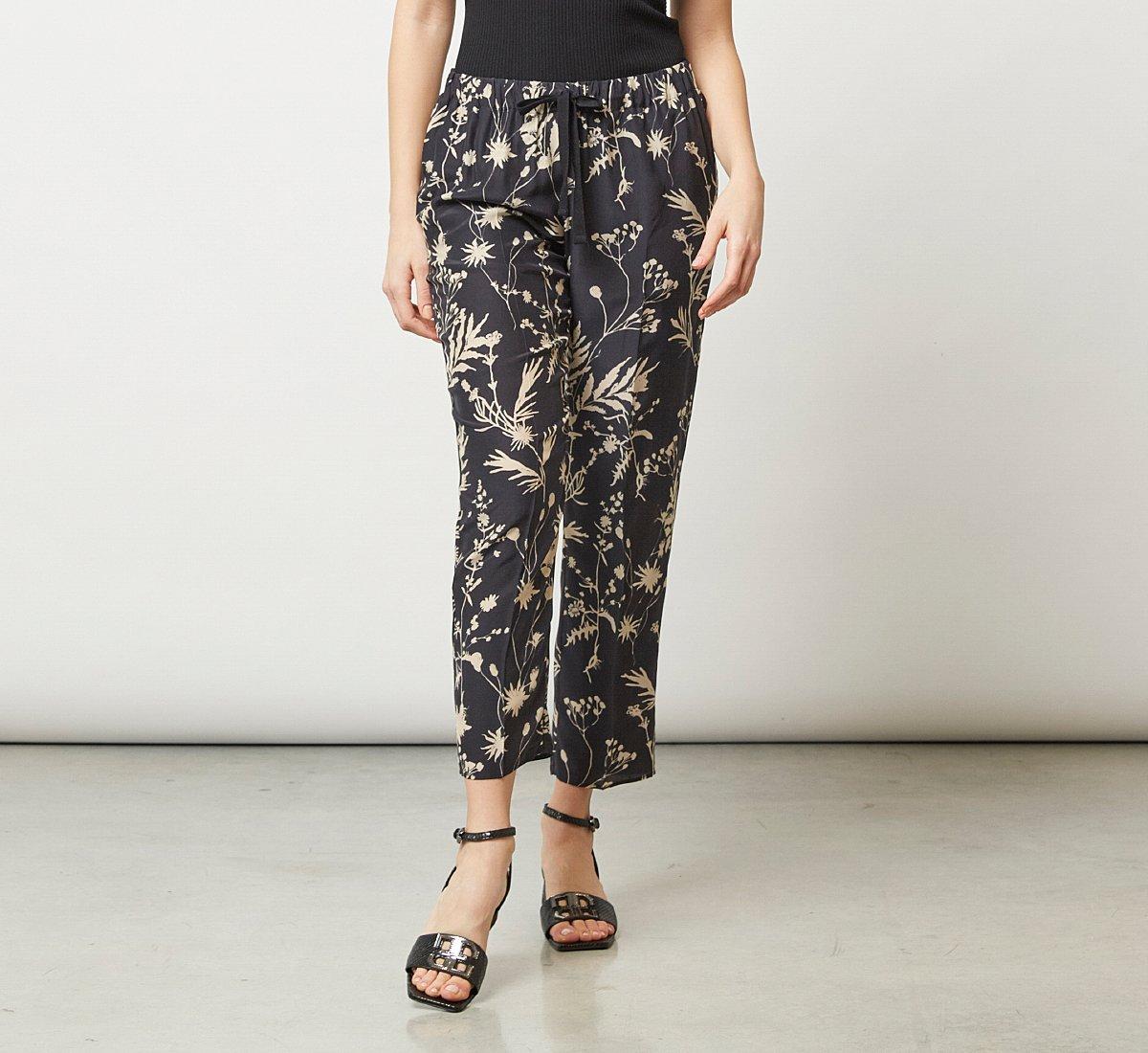 Мягкие брюки с цветочным узором