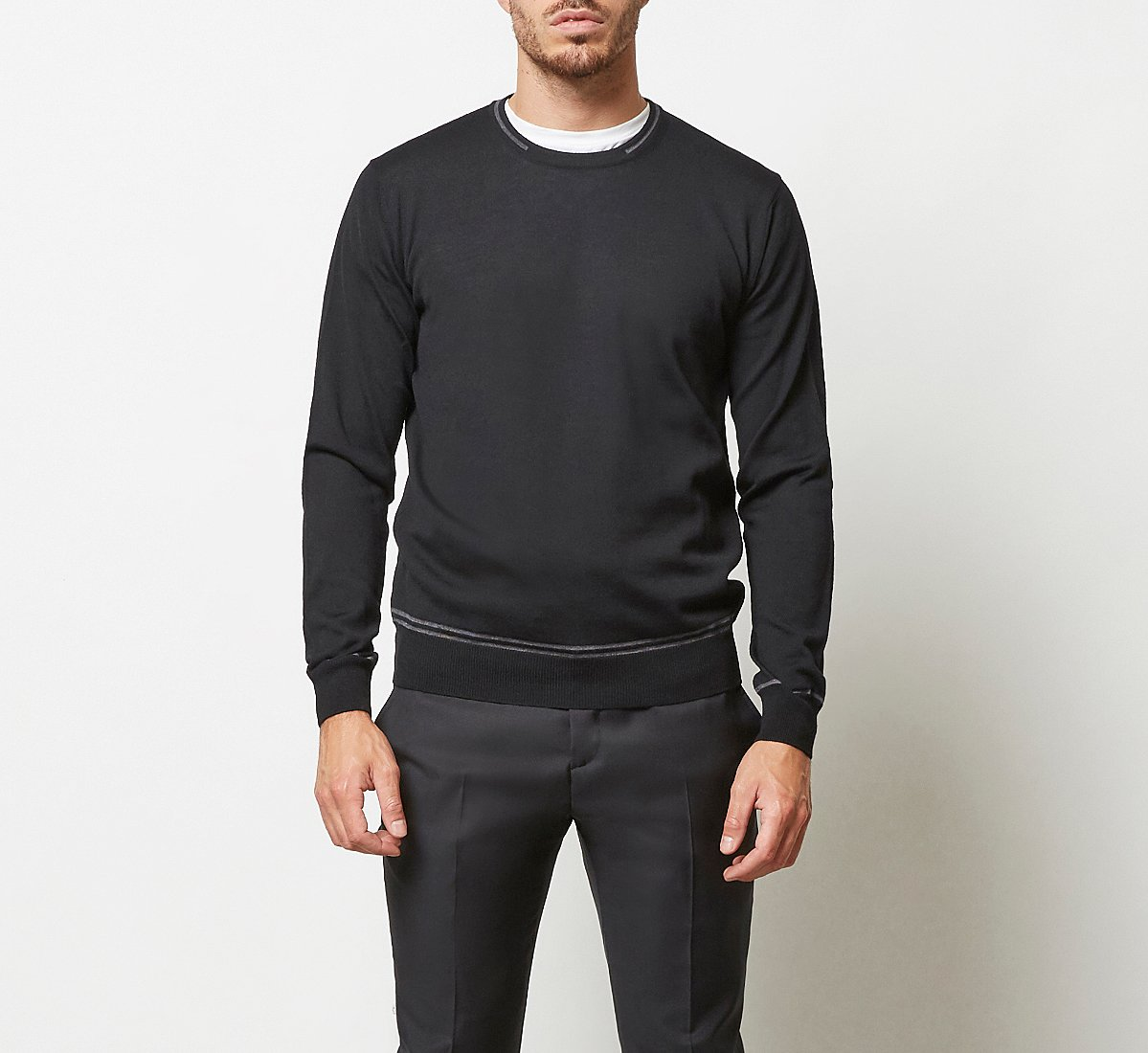 Maglioncino a contrasto in calda lana