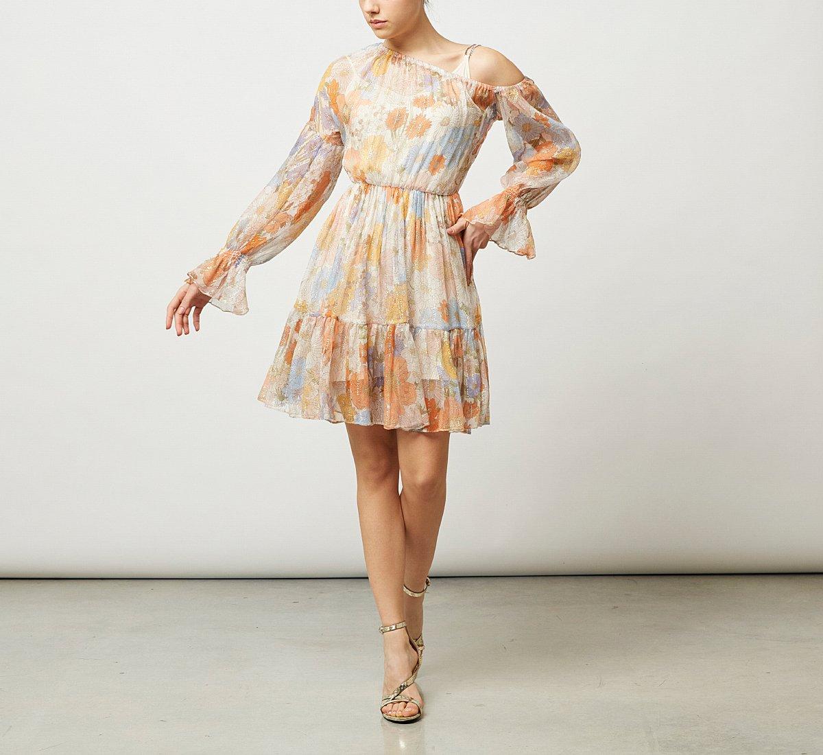 One-shoulder fabric dress