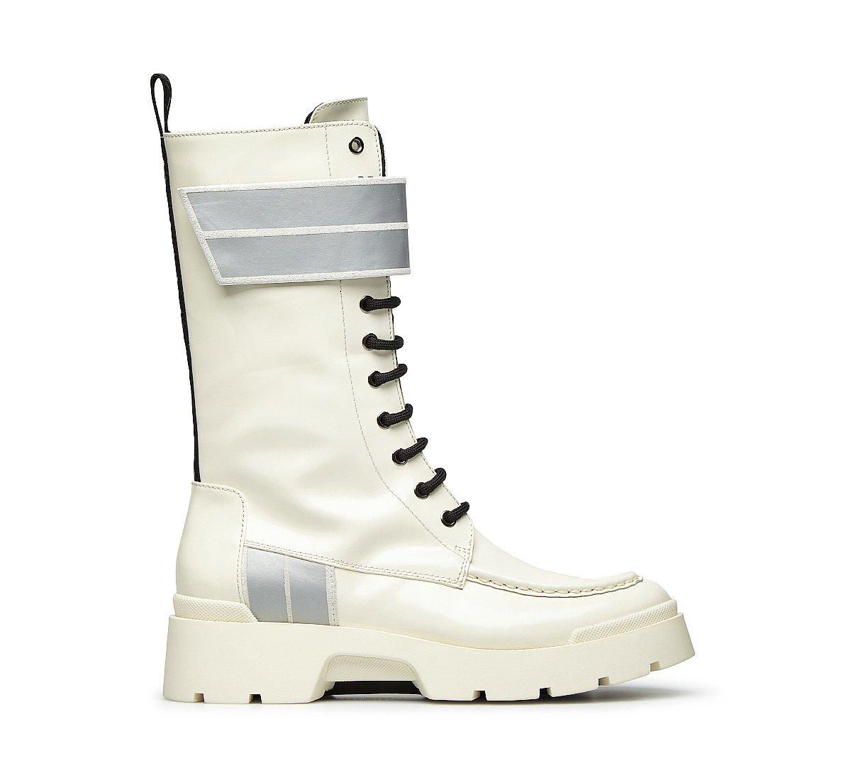 Soft calfskin biker boots