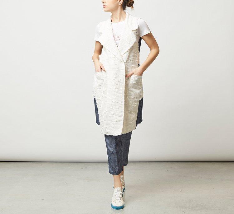 Жакет из ткани в стиле деним