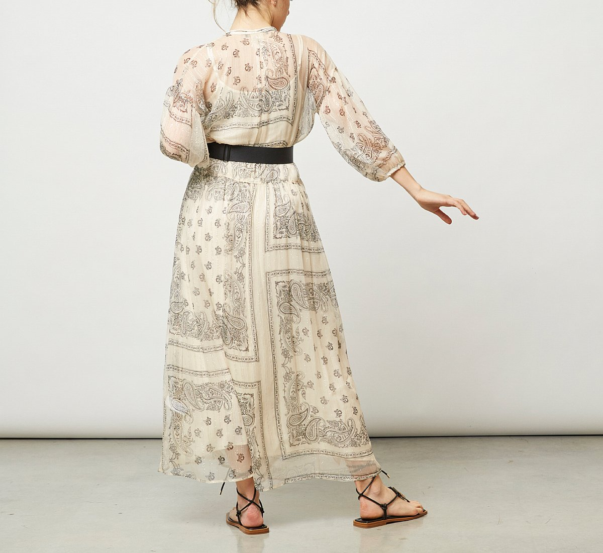 Длинное платье из ткани