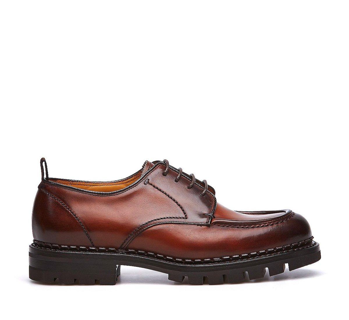 Ботинки на шнурках из телячьей кожи