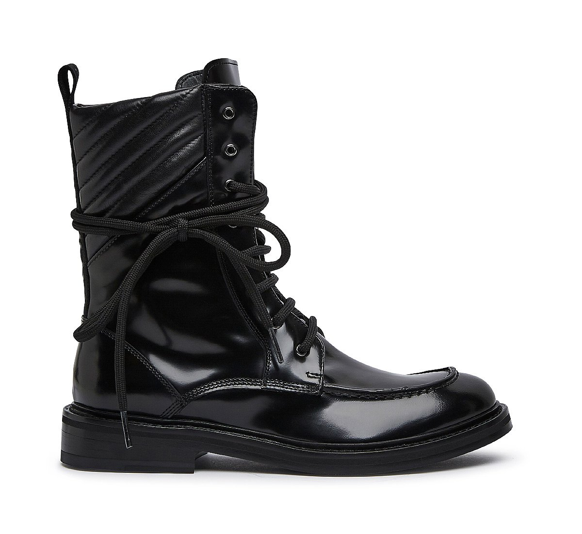 Ankle boots in soft calfskin and nappa leather