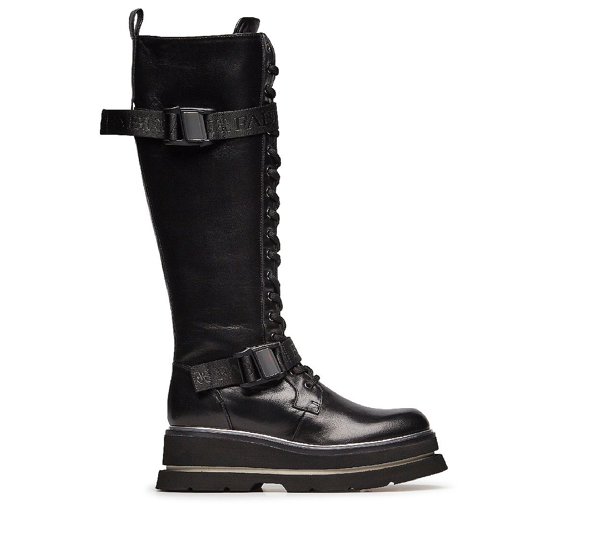 Fine nappa leather boots