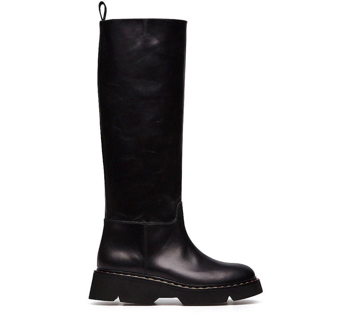 High calfskin boots