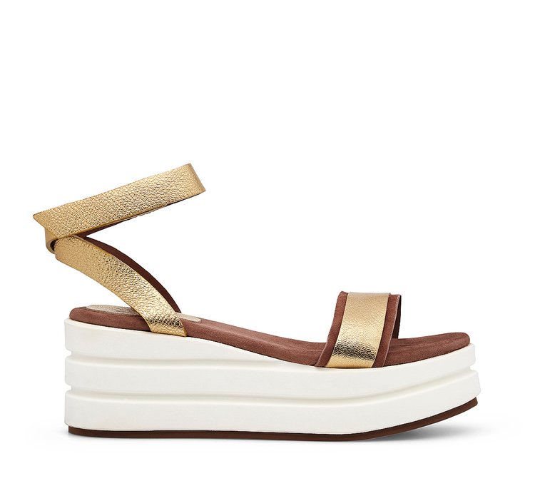 Raft in calfskin and suede