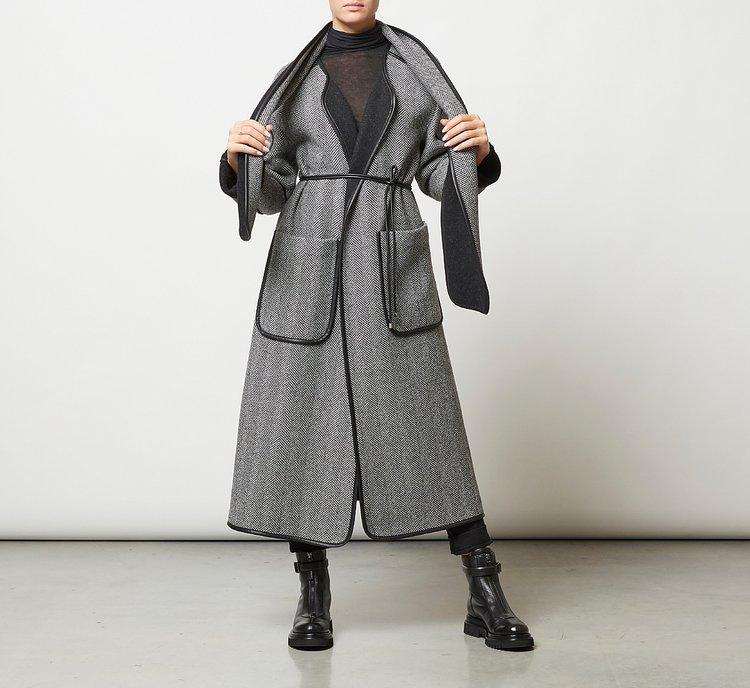 Cappotto lungo in lana