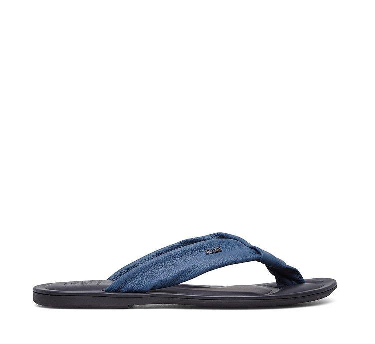 Nappa leather thong sandal